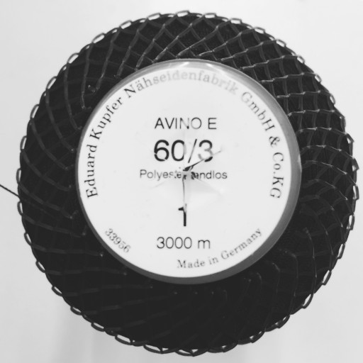 Recycled polyester thread