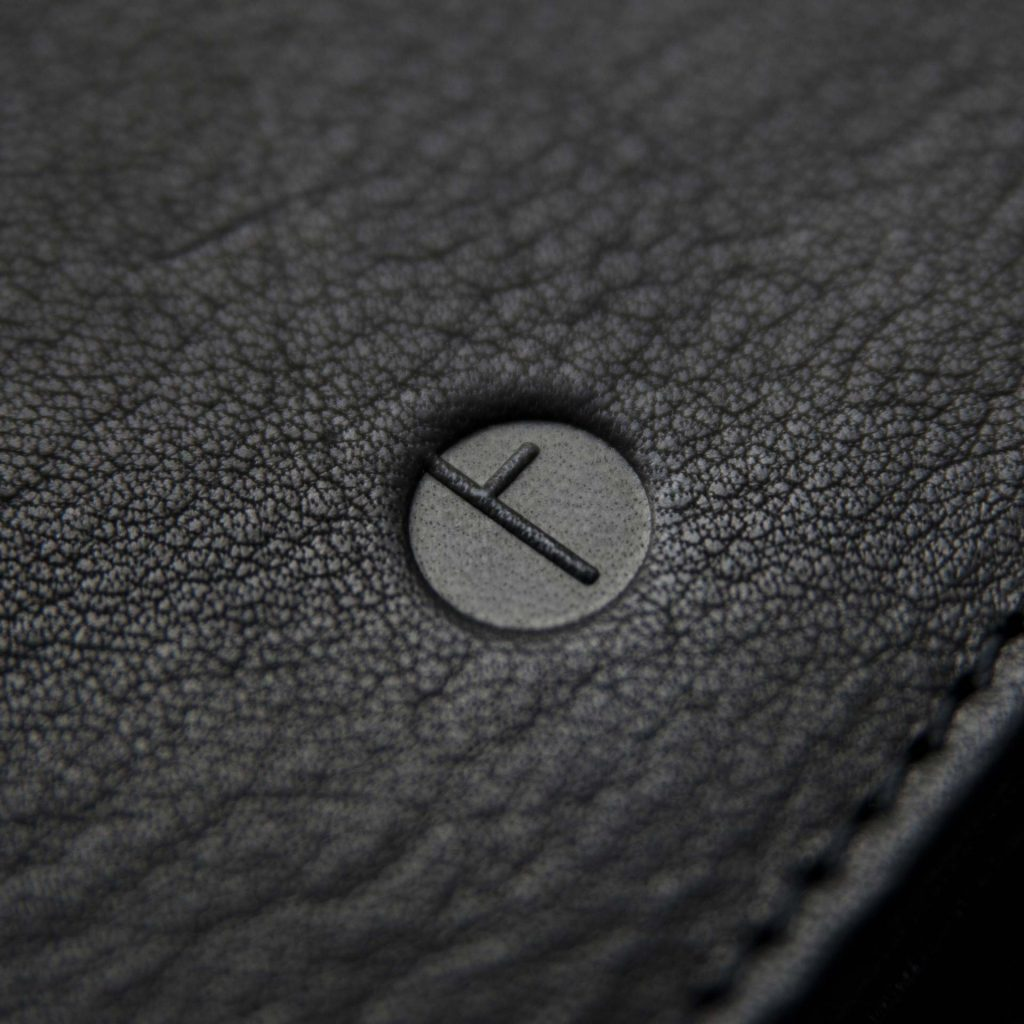 Signature logo of Faulhaber Products in leather