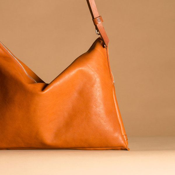 Faulhaber Products ASK multifunctional bag in cognac vegetal tanned leather