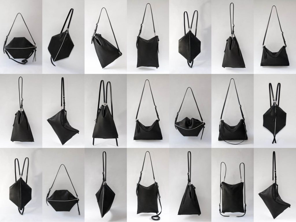 Faulhaber Products ASK multifunction bag in black vegetal tanned leather