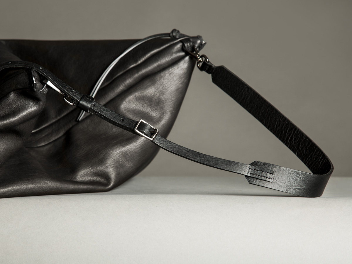 Faulhaber Products ASK multifunction bag and BURRO shoulder strap from vegetal tanned full grain leather
