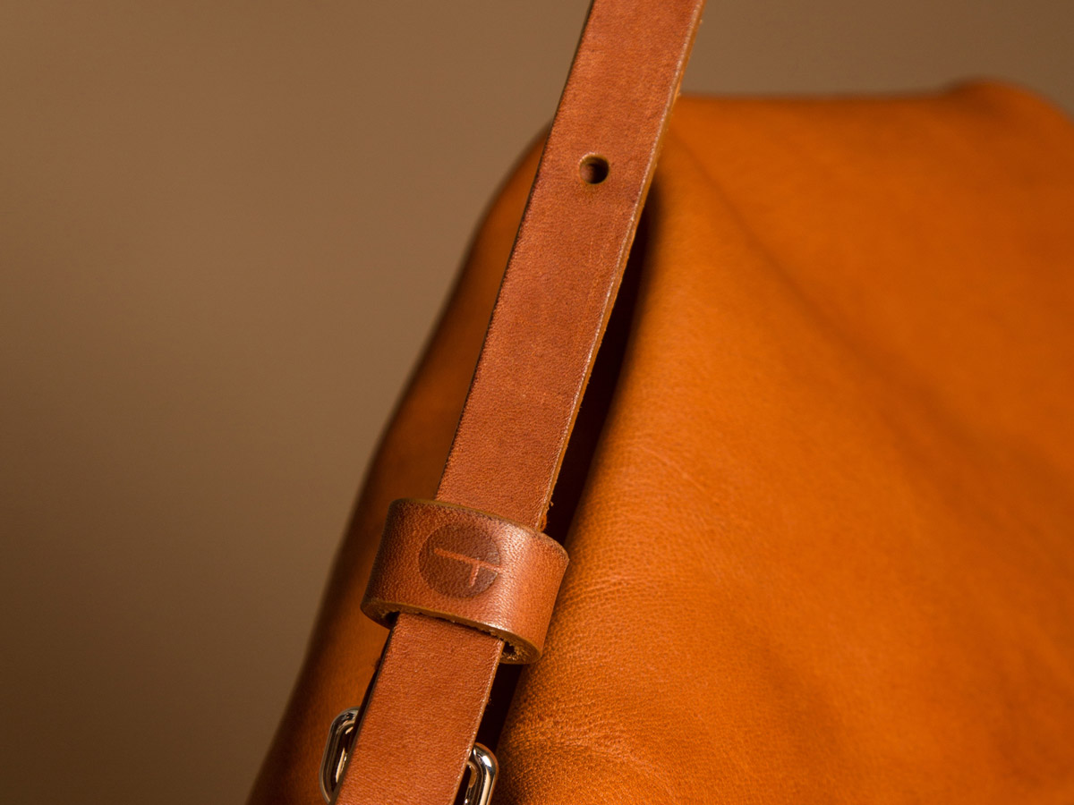 Details of Faulhaber Products ASK multifunction bag in cognac vegetal tanned leather