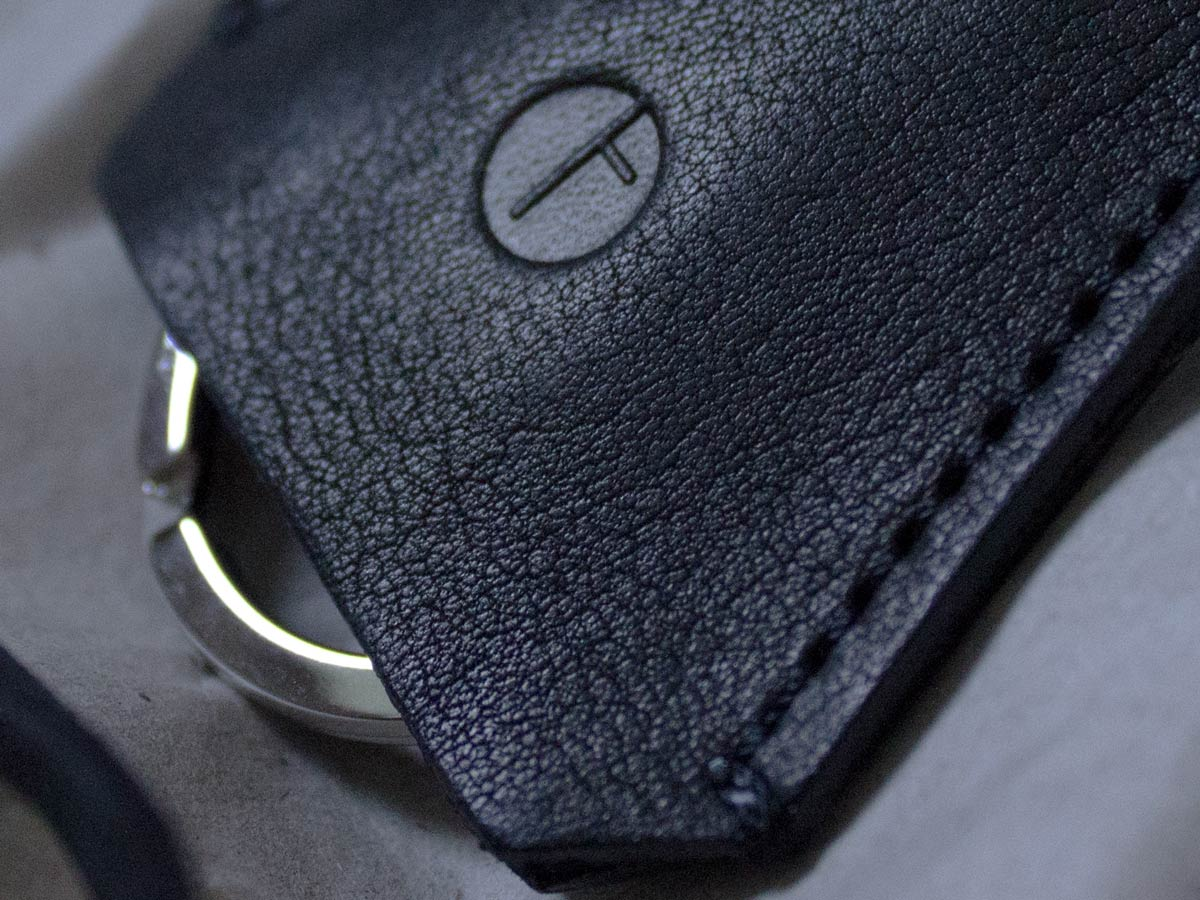 Faulhaber Products HEL key holder in black vegetal tanned leather