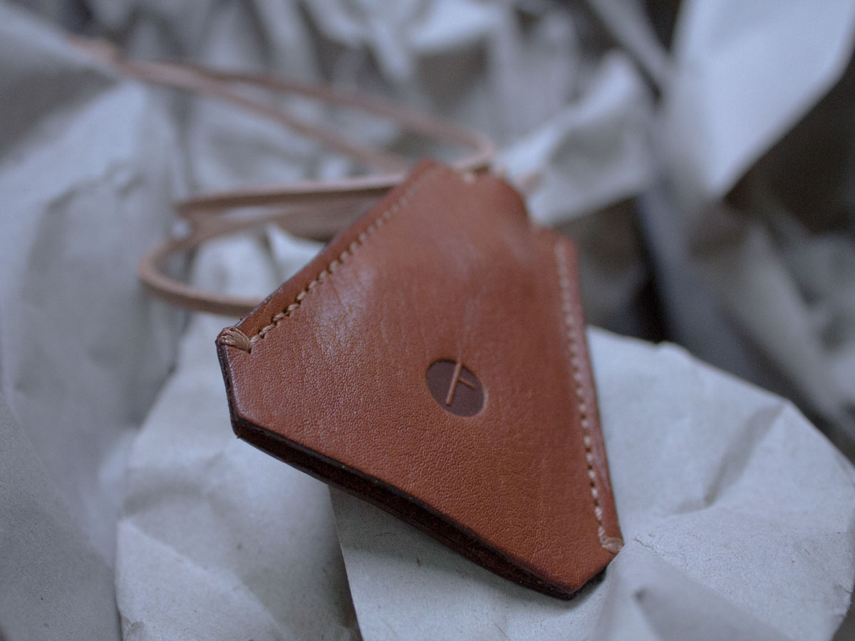 Faulhaber Products HEL key holder in cognac vegetal tanned leather