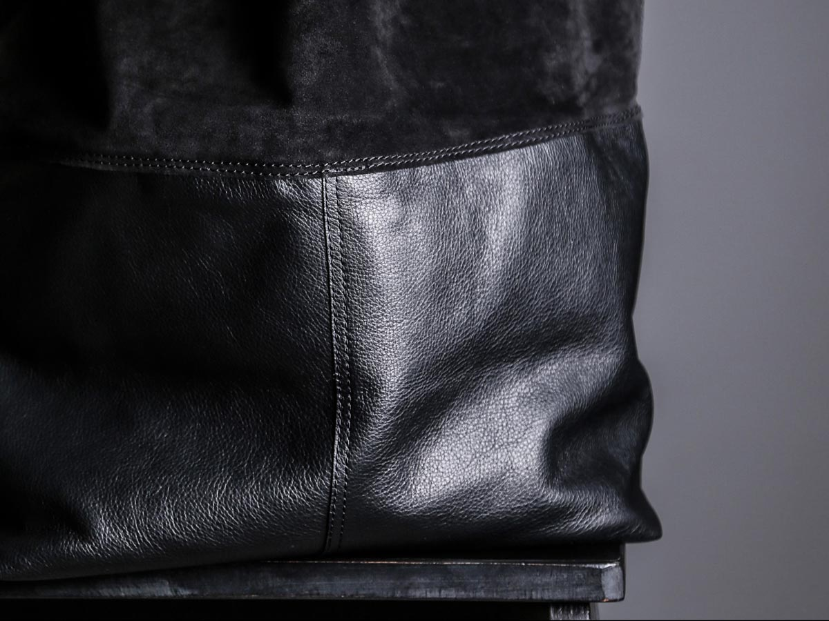 Faulhaber Products LIF totebag in black leather mix