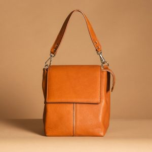 Faulhaber Products ROTA handbag from cognac leather in arm carry option