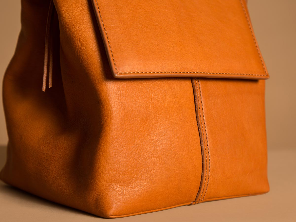 Faulhaber Products ROTA handbag in cognac vegetal tanned leather