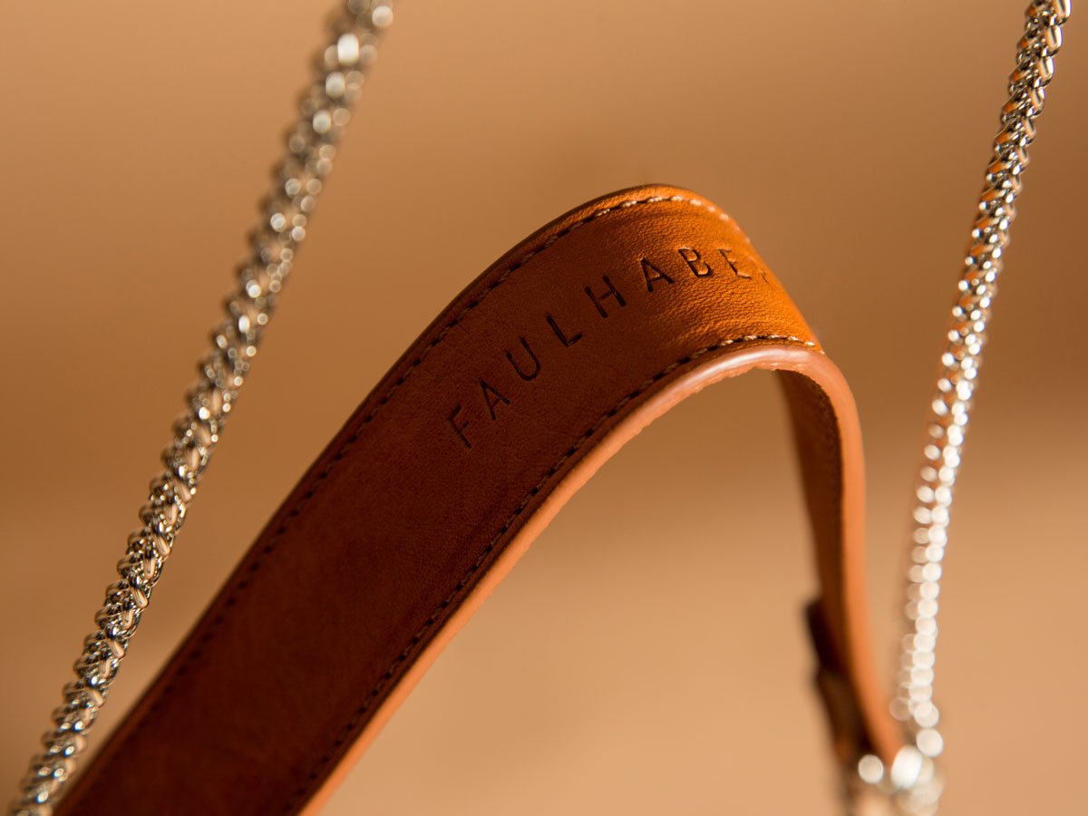 Chain handle of ROTA handbag by Faulhaber Products