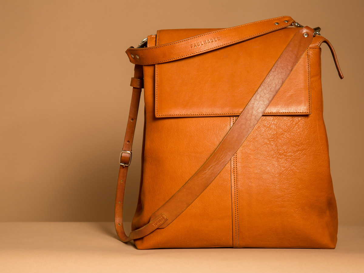 ROTA handbag in cognac vegetal tanned leather