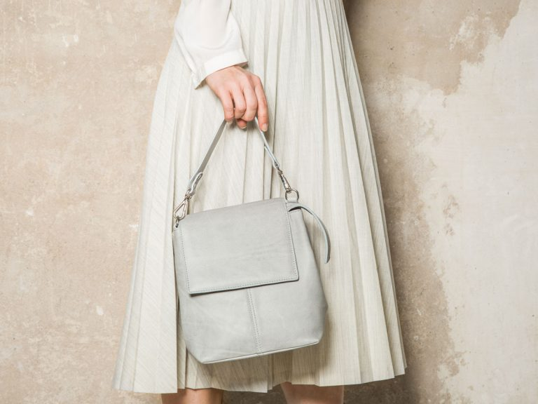 Faulhaber Products ROTA handbag in grey cow leather