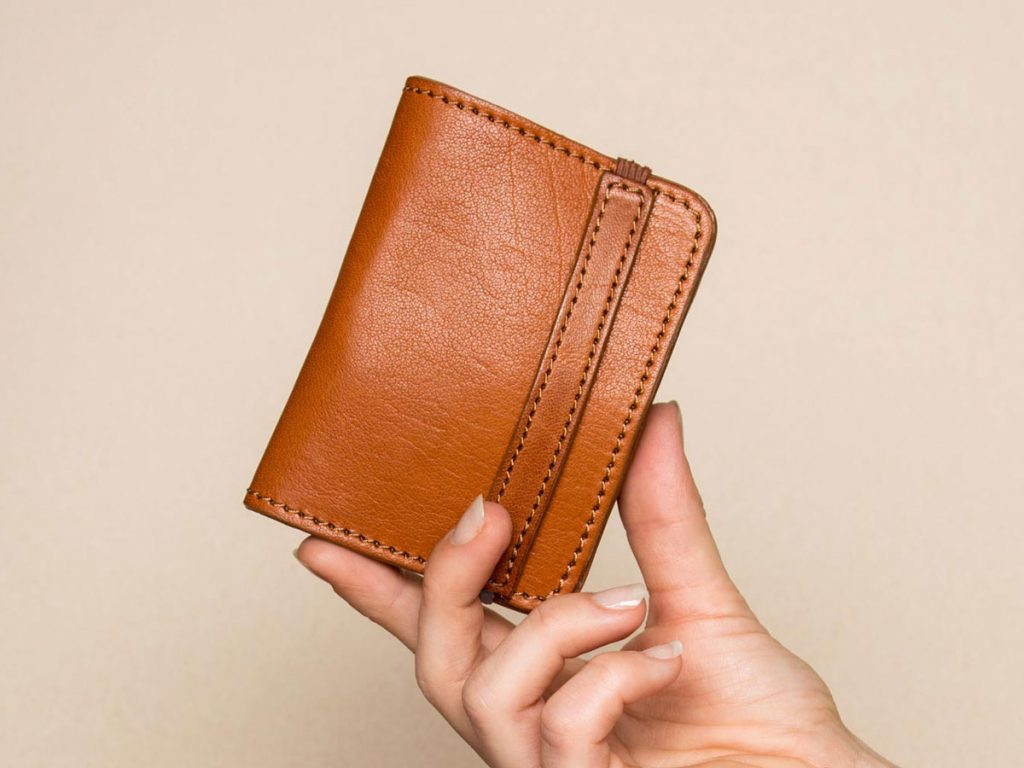 Faulhaber Products SIGYN wallet in cognac vegetal tanned leather