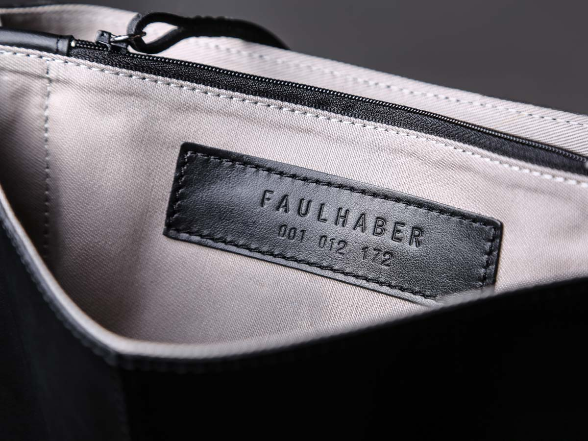 Companion id of Faulhaber Products SOL handbag in black natural leather