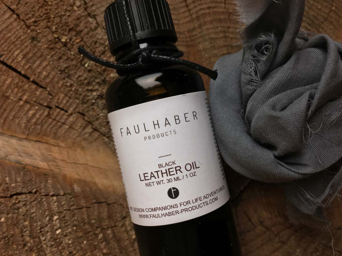 Faulhaber Products black leather care oil