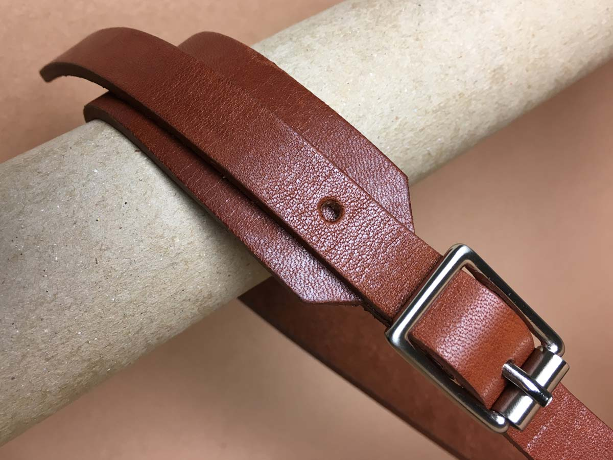 Faulhaber Products BORR belt in cognac vegetal tanned leather