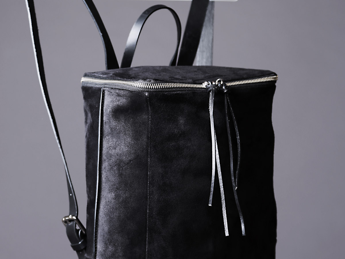 Faulhaber Products SYN backpack in black suede