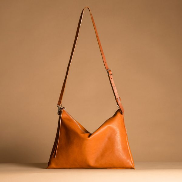 Faulhaber Products ASK multifunction bag in cognac vegetal tanned leather