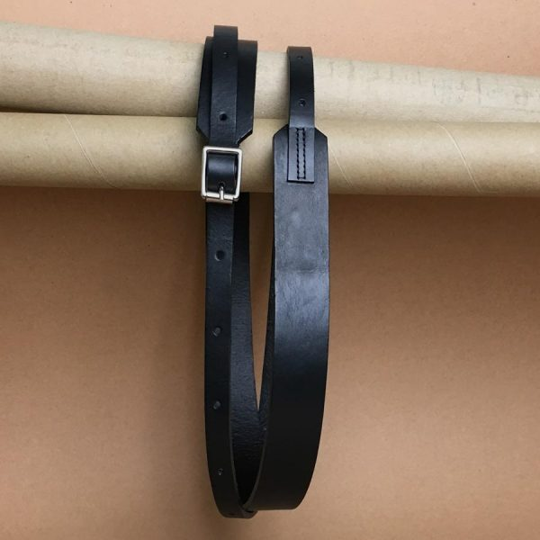 Faulhaber Products BORR belt in black vegetal tanned leather