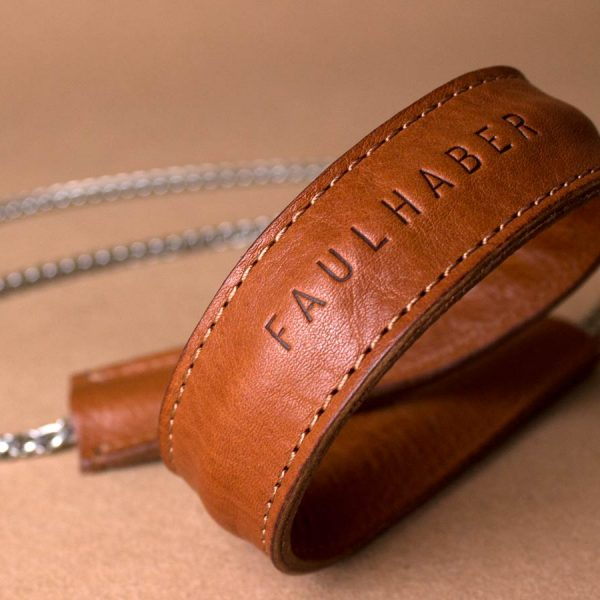Faulhaber Products BURA chain strap in cognac vegetal tanned leather